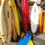 Historic boards some of which where used in the 2011 Mr Price Pro Legends Event